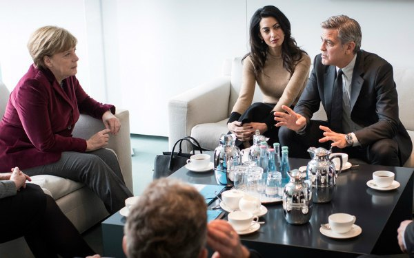 Ангела Меркель, Амаль Клуни и Джордж Клуни