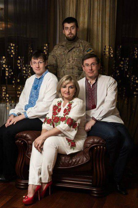 Юрий и Ирина Луценко в сыновьями Виталием и Александром