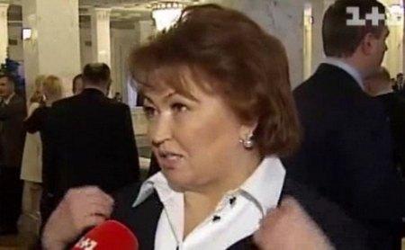 Татьяна Бахтеева пришла в Верховную Раду в черном