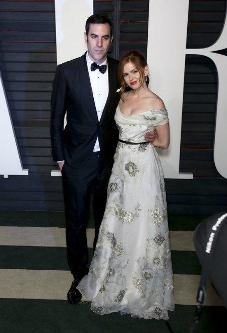 Саша Барон Коэн с женой