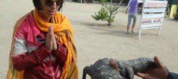 Джамала на Кубе отдохнула с крокодилами