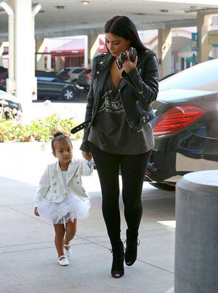 Ким Кардашьян с дочкой Норт