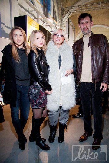 Александра Кужель с семьей