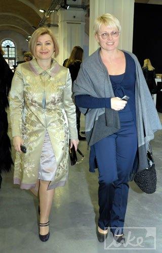 Народный депутат Ирина Геращенко и пресс-секретарь СБУ Украины Марина Остапенко