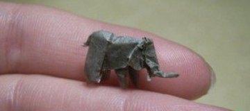 Миниатюрные животные оригами