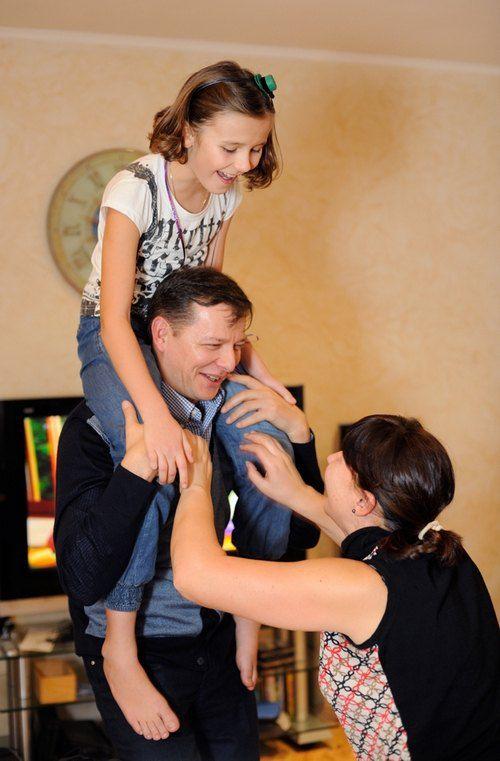 Олег Ляшко с женой Роситой и дочкой Владиславой