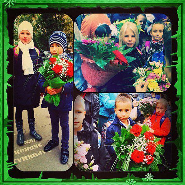 Юлия Волкова отправила детей в школу
