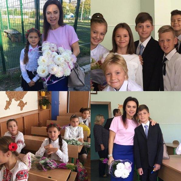 Лилия Подкопаева с дочкой Каролиной и сыном Вадимом