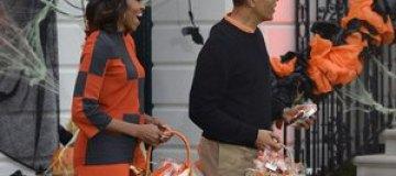Барак и Мишель Обама устроили прием на Хэллоуин
