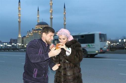 С главой Чеченской Республики Рамзанном Кадыровым