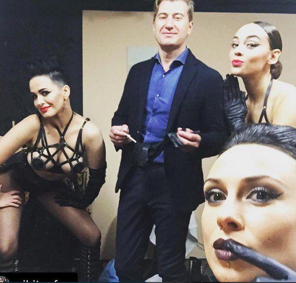 Группа со своим продюсером Юрием Никитиным