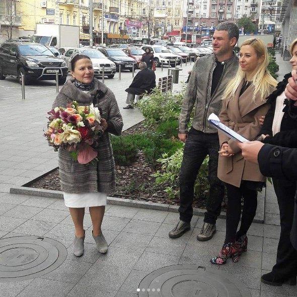 Нина Матвиенко с дочкой Тоней и зятем Арсеном Мирзояном