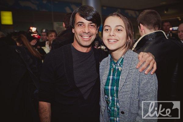 Заместитель генерального директора НТКУ Валид Арфуш с дочкой, телеведущей Лизой Арфуш