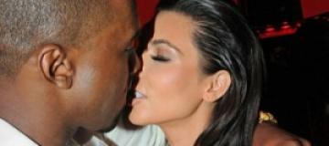 Кардашьян и Уэст впервые поцеловались на публике