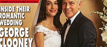 Жена Джорджа Клуни впервые показала свадебное платье