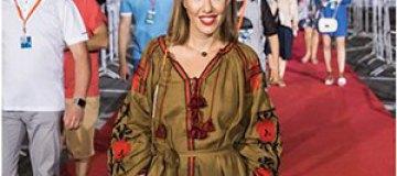 Ксения Собчак вышла на красную дорожку в украинской вышиванке