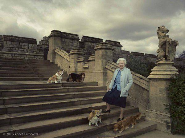 Елизавета II с домашними любимцами