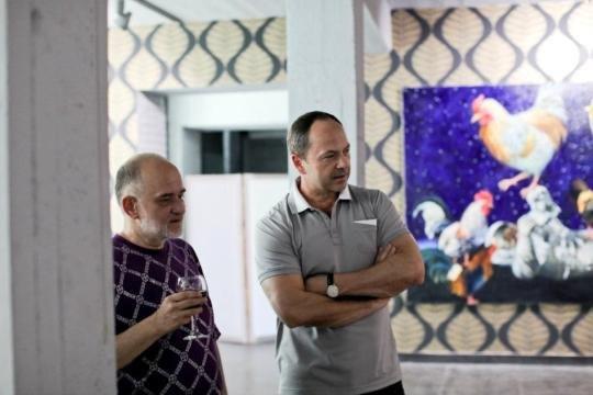 Вице-премьер-министр Украины Сергей Тигипко и художник Александр Ройтбурд