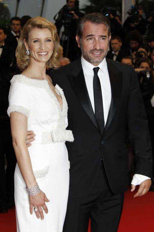 Жан Дюжарден с женой Александрой Лами