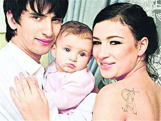 Анастасия с дочерью Наной и Нури Кухилава