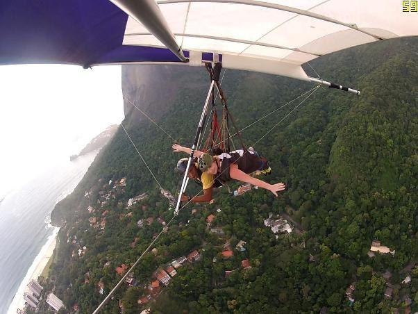 Виктория Тигипко полетала на дельтаплане