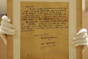 Письмо Пола Маккартни продали за $55 тыс.