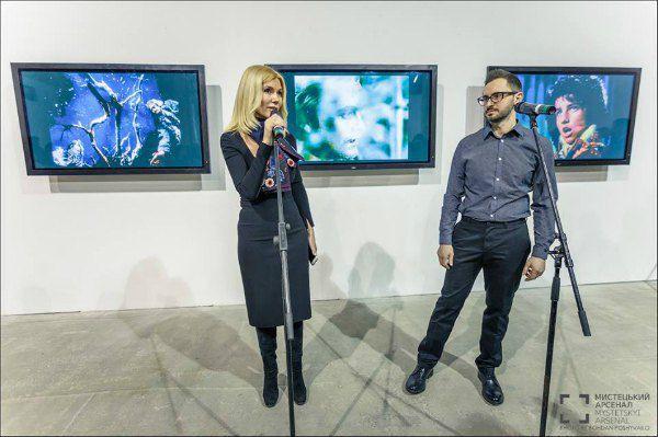 Директор Арсенала Наталья Заболотная и куратор проекта галерист Павел Гудимов