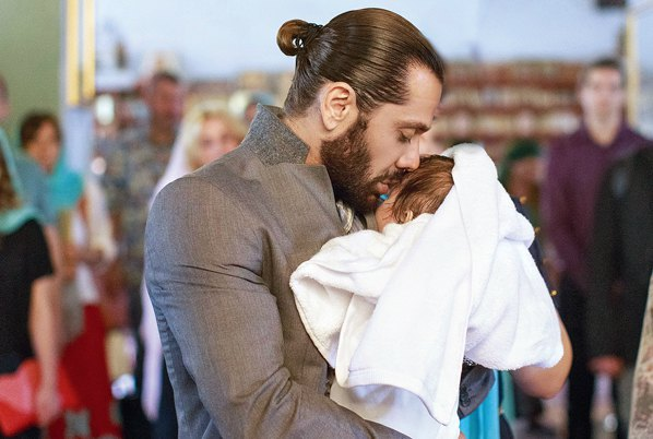 Аслан Ахмадов с сыном Табризом
