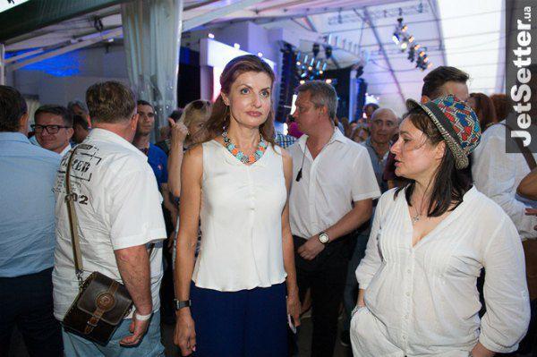 Жена президента Украины Марина Порошенко тоже приехала послушать джаз
