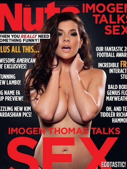 """Обложка выпуска журнала """"Nuts Magazine"""" с Имоген Томас"""