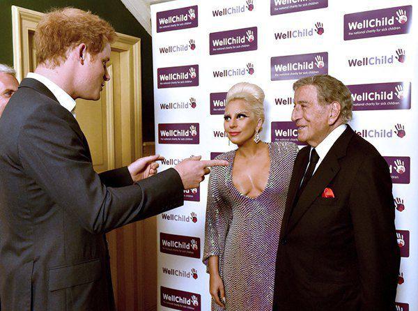 Принц Гарри, Леди Гага и Тони Беннетт
