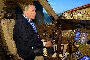 Колесников полетал на Boeing 737