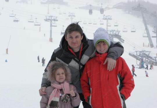 Игорь Кондратюк с детьми