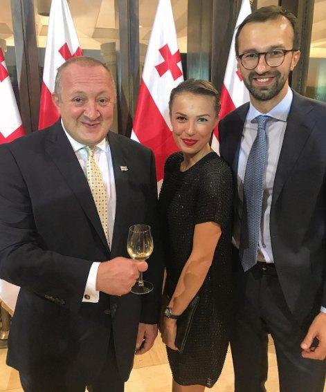 Молодожены Лещенко и Топольская побывали в гостях у президента Грузии
