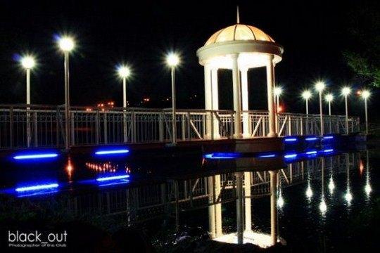Мост влюбленных в Запорожье