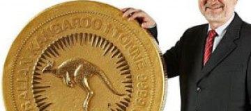 В Австралии отлили золотую монету весом в тонну