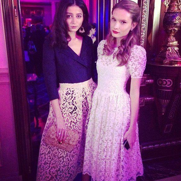 Украинские модели Эвелина Мамбетова и Татьяна Богдан