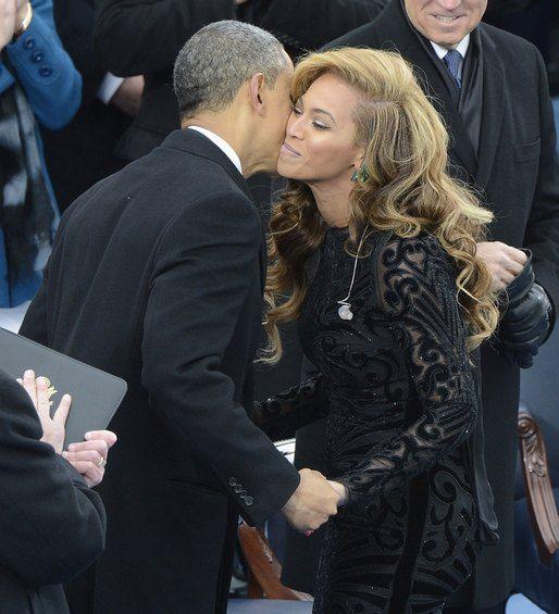 Бейонсе и президент США Барак Обама
