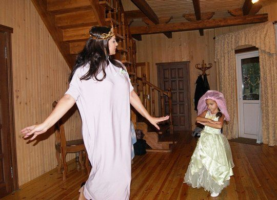 Галлина с дочкой