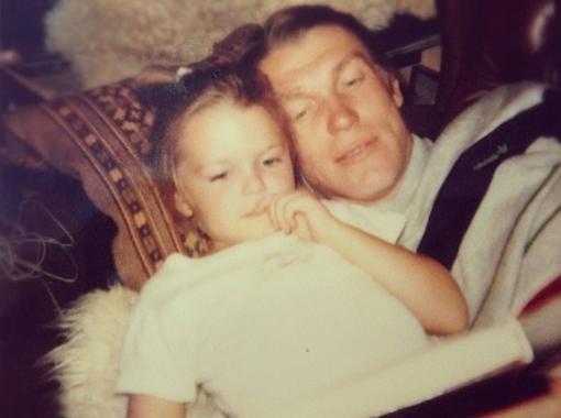Ириша Блохина с отцом Олегом Блохиным