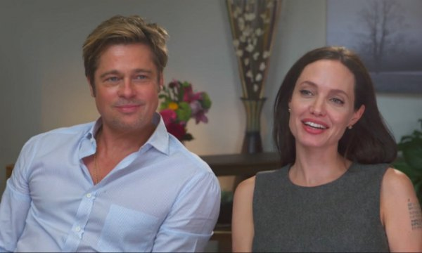 Брэд Питт и Анджелина Джоли во время совместного интервью