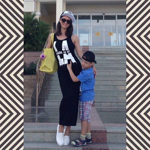 Татьяна Денисова с сыном Львом