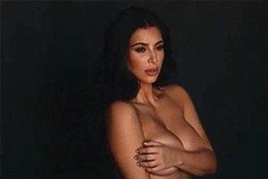Ким Кардашьян полностью оголилась перед беременностью