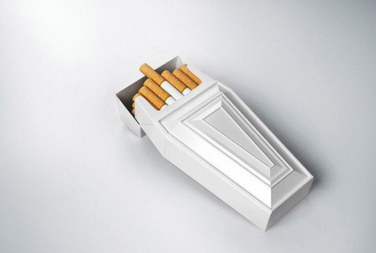 Дизайнер R.J. Reynolds полагает, что подобная упаковка может стать альтернативой надписи на пачках сигарет
