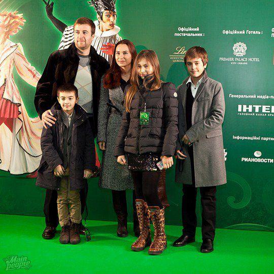 Виталина Ющенко с семьей