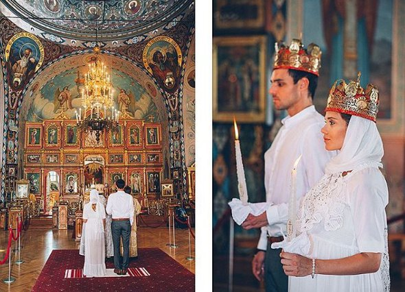 Венчание Галины Безрук и Артема Алексеева в храме Симферополя