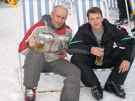 Глава нацбанка Игорь Соркин с сыном Валентином