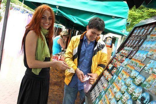 Ирина Забияка в Лавре купила сувениры