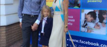 Шовский вместе с Аленовой отвел дочь в первый класс