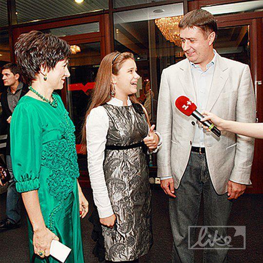 Вячеслав Кириленко с супругой и дочкой